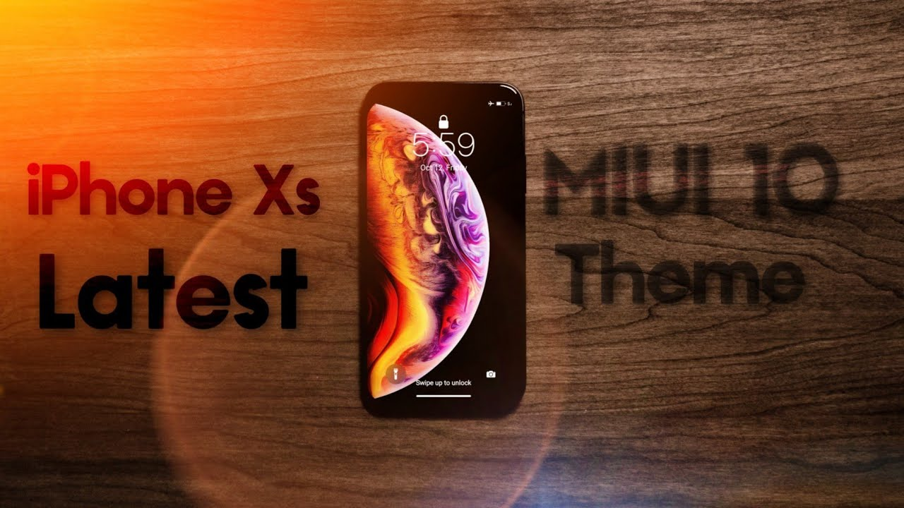 Get iPhone Xs Best Theme For Miui 9/10 | iPhone Xs Theme For Miui 10