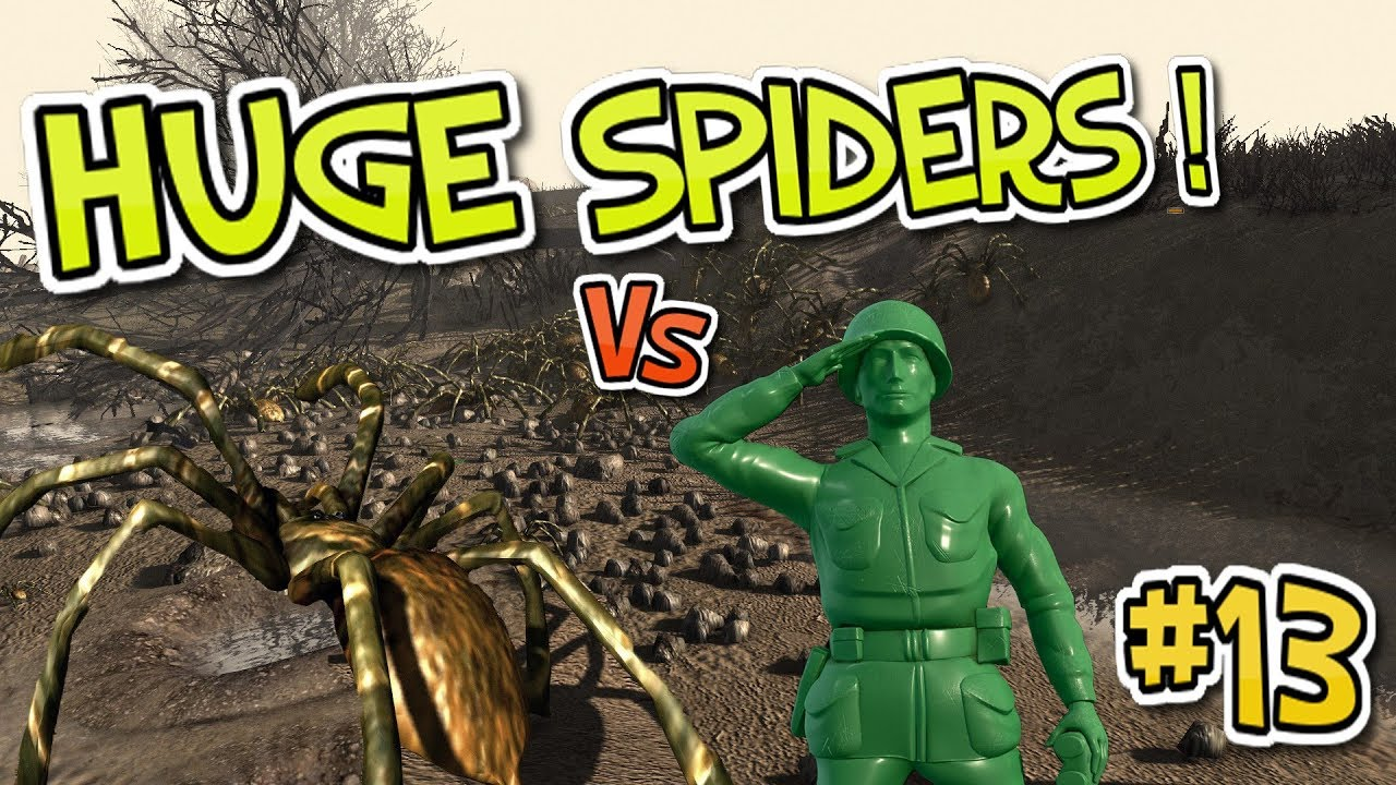 SPIDERS Vs Green Army Men! Army Men Of War : Episode 13 ...