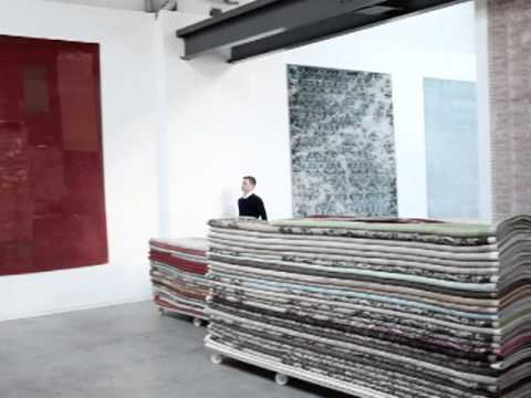 im atelier von teppichdesigner jan kath youtube. Black Bedroom Furniture Sets. Home Design Ideas
