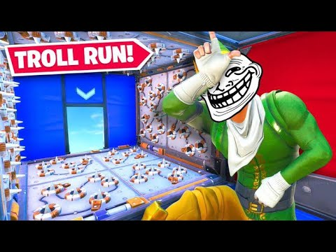 attempting the fortnite troll run