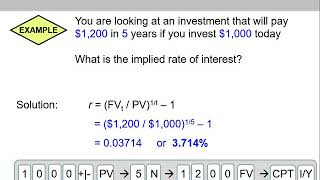 (10 of 14) Ch.5 - Two examples on calculating implied interest rate