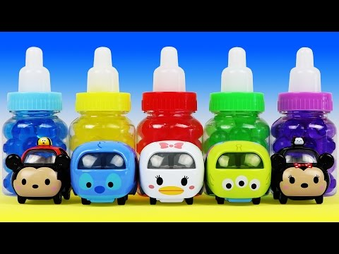 Thumbnail: Learn Colors with Orbeez in the Baby Milk Bottles, Disney Tsum Tsum Cars Surprise Toys