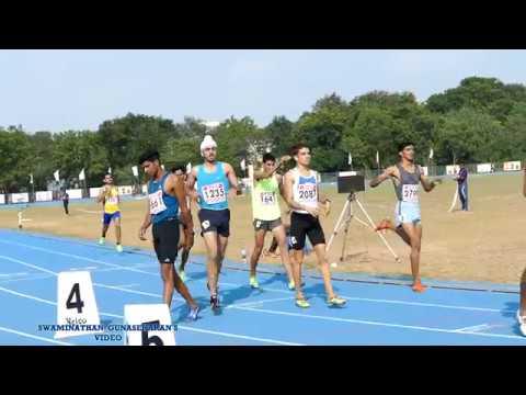 BOY'S U20  800m RUN FINAL. 33rd National Junior Athletics Championships 2017