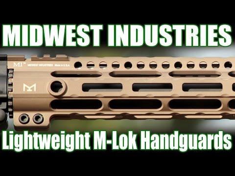 Midwest Industries FDE Lightweight Slim M-LOK Handguards