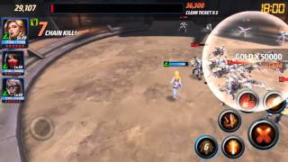 Marvel Future Fight - Alliance Battle - Sharon Carter/Black Widow/Silk - 90k