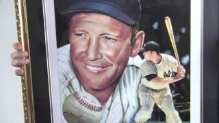 Framed Mickey Mantle Autographed Lithograph 16x20 - LE 282/300 - JSA