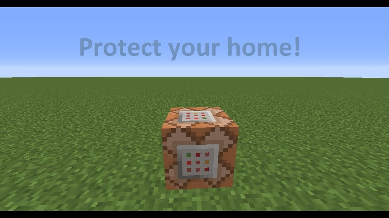 ^ Minecraft 1.7.4 : ommand Blocks! Protect house! - Youube