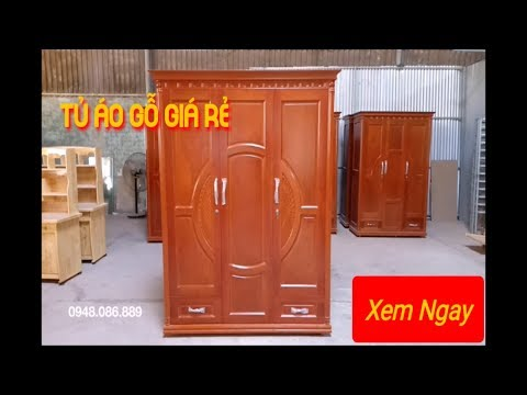 Tủ áo Gỗ Xoan đào Ghép 1m6 Giá Rẻ