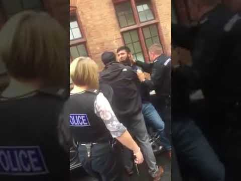 Police arrest a muslim man Spotted Bradford UK