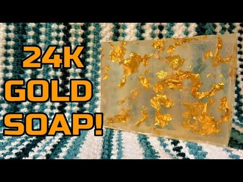 HOW TO MAKE REAL 24K GOLD SOAP