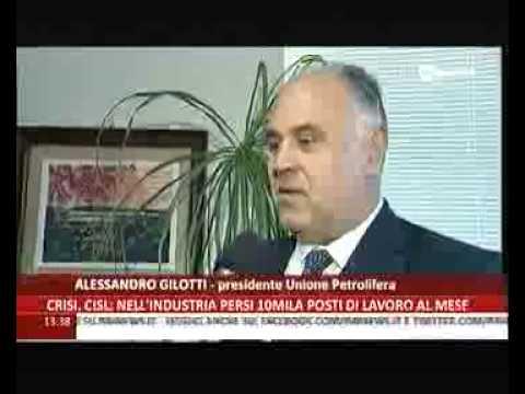 Intervista ing. Gilotti su crisi raffinazione a Gela (RaiNews 24, 19.7.2014)