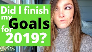 Writing Goals: Did I Complete My Goals for 2019?