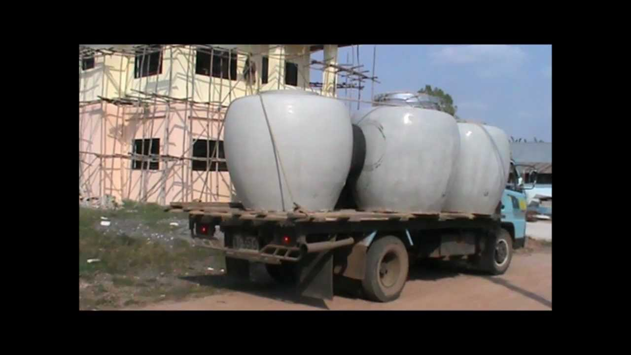 Building A House In Rural Thailand Concrete Water Tanks