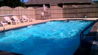Caleb Cobb swims