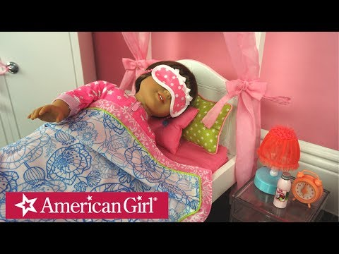American Girl Doll Bedroom Night Routine & After School Play - Kids Toys
