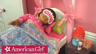 American Girl Doll Bedroom Night Routine After School Play Kids Toys
