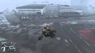 GTAV - Shagged bike physics - turning left
