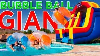 GIANT BUBBLE BALL CHALLENGE!