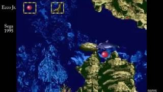 Ecco Jr. / in game automatic demonstration / Sega Genesis 1995