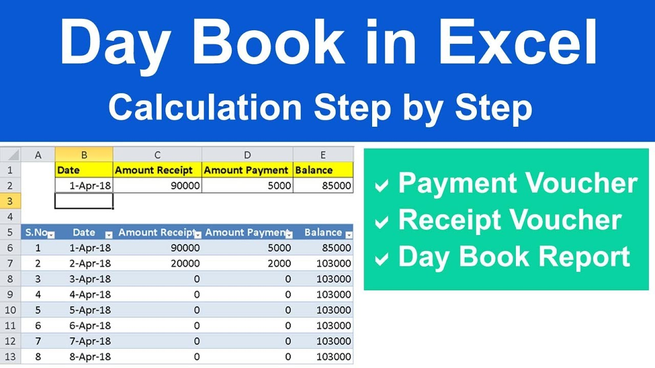 pdf excel day format in book