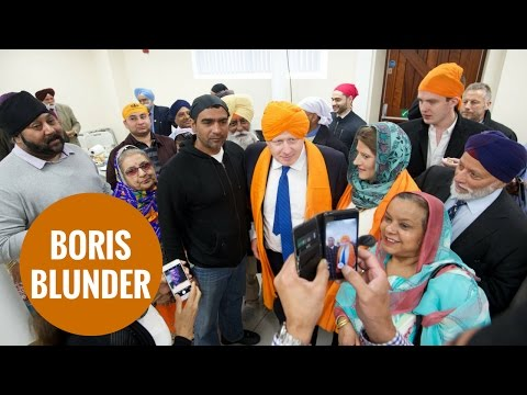 Boris Johnson outrages Sikhs who ban alcohol by talking about whisky in temple