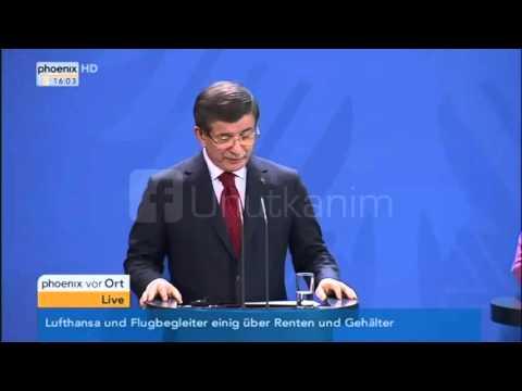 Ahmet Davutoglu spricht Deutsch / Berlin - 22.01.16