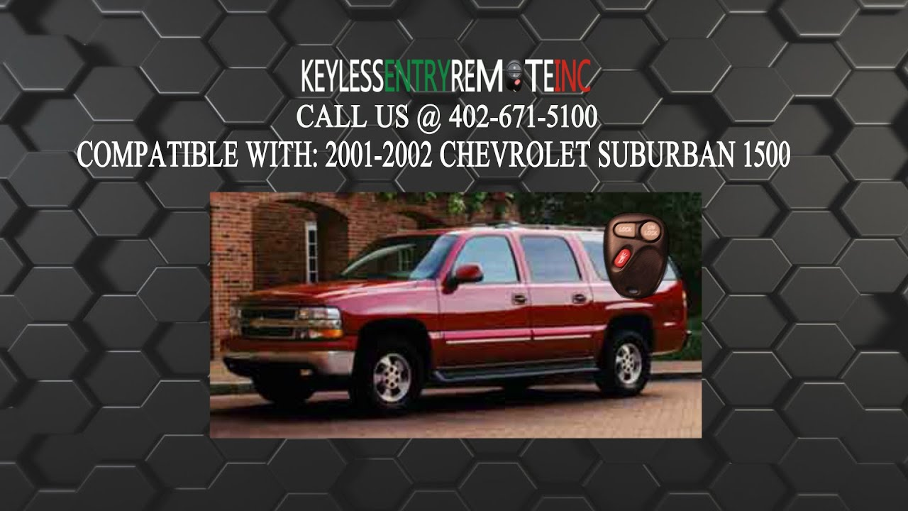 How To Replace Chevrolet Suburban 1500 Key Fob Battery 2001 2002
