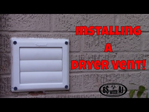 Installing A Dryer Vent