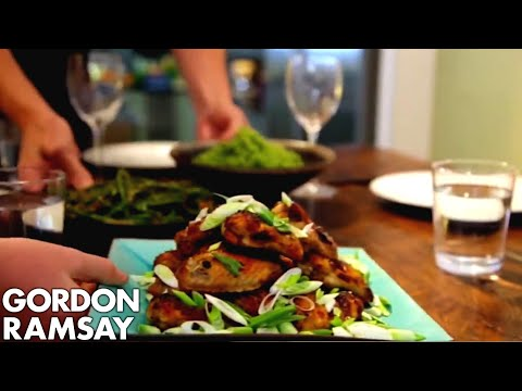 Spicy Chicken Wings, Thai Green Curry Rice & Green Beans with Chilli Peanut Dressing | Gordon Ramsay