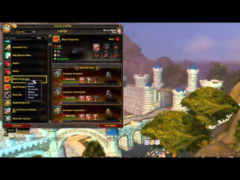 World of Warcraft - How to cage battle pets