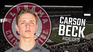 Carson Beck | Highlights from Alabama quarterback commit