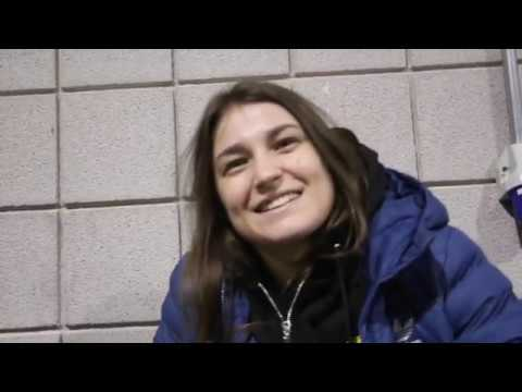 POSSIBLY THE SHORTEST KATIE TAYLOR INTERVIEW EVER.  / HAYE v BELLEW WEIGH-N