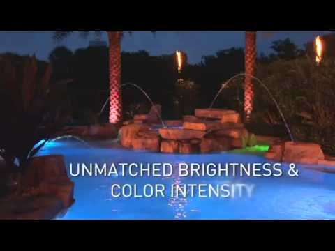 Intellibrite 5g Led Color Changing And White Led Pool Lights By Pentair Youtube