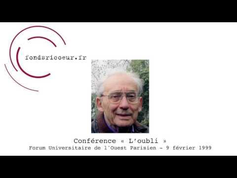 """Paul Ricœur : Conférence """"L"""