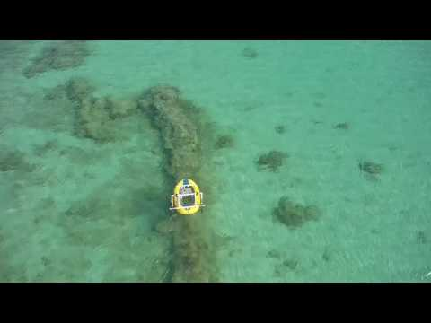 Autonomous boat drone for mapping coral reefs