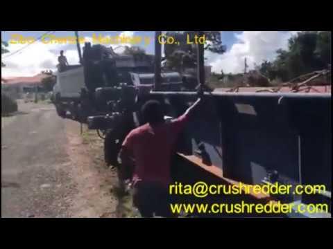 mobile Diesel wood chipper in Antigua