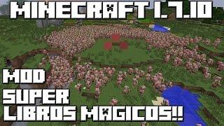 Minecraft 1.7.10 MOD SUPER LIBROS MÁGICOS!