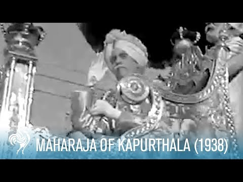 Diamond Jubilee Of Maharaja Of Kapurthala, India (1938) | British Pathé