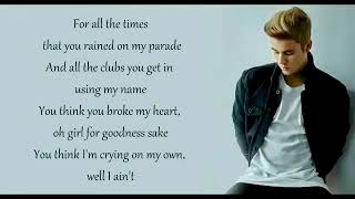 Gambar cover Justin bieber love yourself lyrics