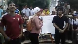peruano debate con venezolana en Perú sobre la migración de venezolanos en Perú