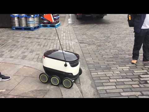 TV Tech Global meets a Starship Tech courier robot