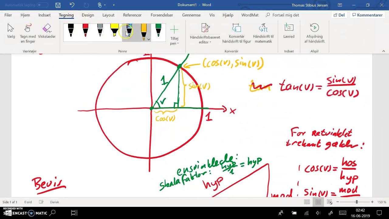2ev spg 3 - 1cd spg 7 - del 2: cosinus, sinus og tangens i retvinklede trekanter