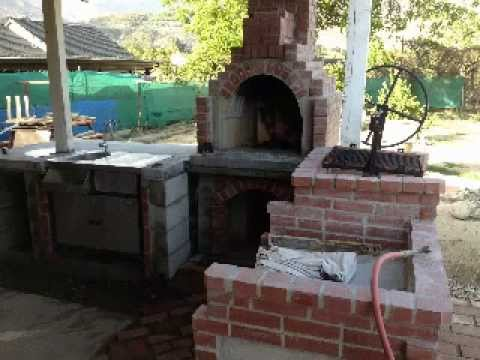 How Im Making a Pizza Oven, Fireplace, Santa Maria BBq and Gas ...