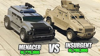 GTA 5 Online - MENACER vs INSURGENT CUSTOM! ($1,775,000 vs $1,795,000)