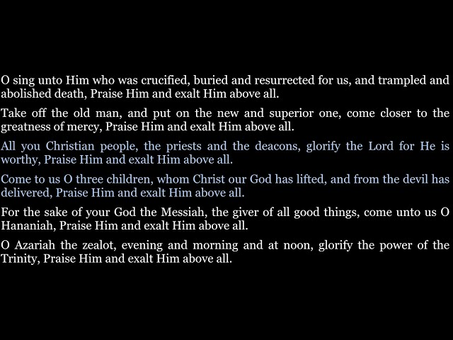 O sing unto Him who was crucified