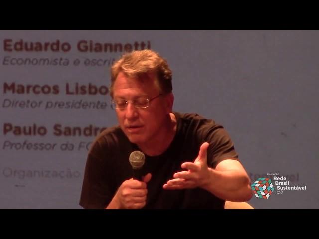 Marcos Lisboa faz sua exposição no seminário sobre Economia