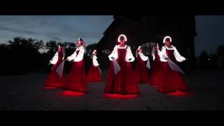 "Russian folk dance in Siberia. Artists of LED show ""CARE"""
