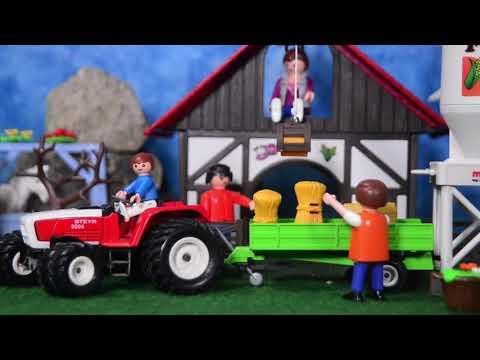 Auf dem Märklin Bauernhof mit Playmobil Figuren