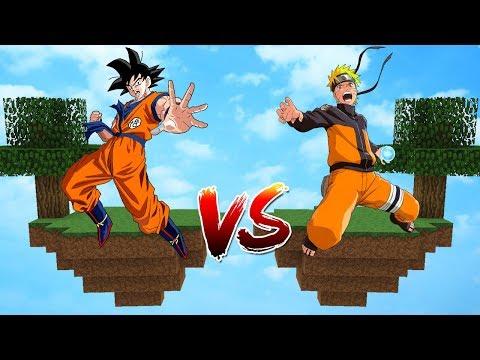 ILHA DO GOKU VS ILHA DO NARUTO no MINECRAFT!!