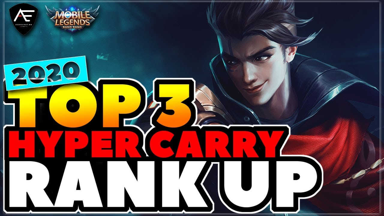 NEW UPDATE TOP 3 HYPER CARRY to RANK UP | Mobile Legends